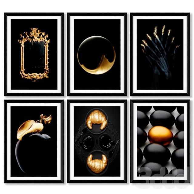 Серия золотых постеров.