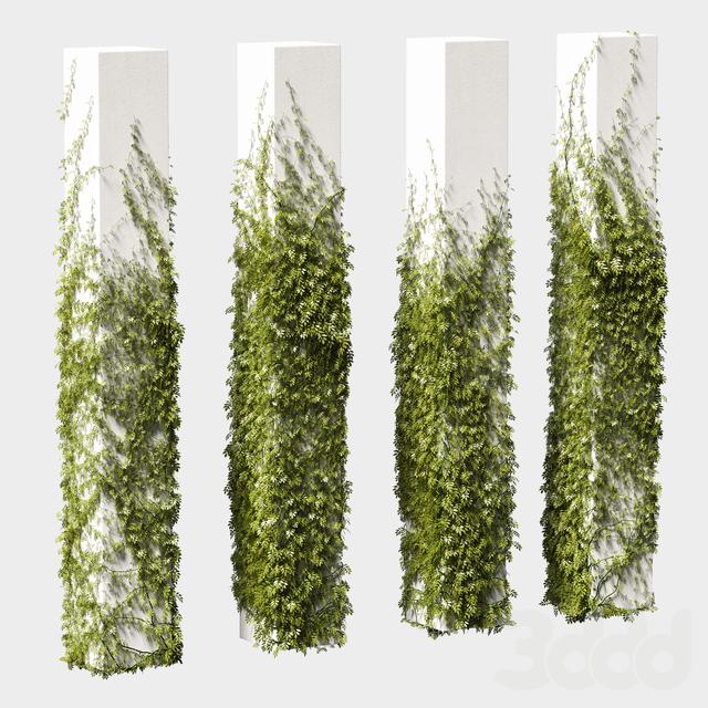 Листья для квадратных колонн. 4 модели