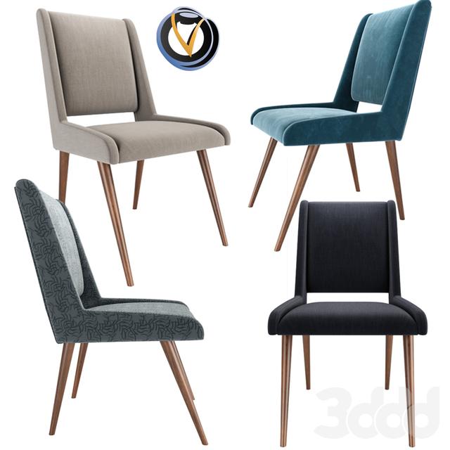 Mid Century Dining Chair in Velvet