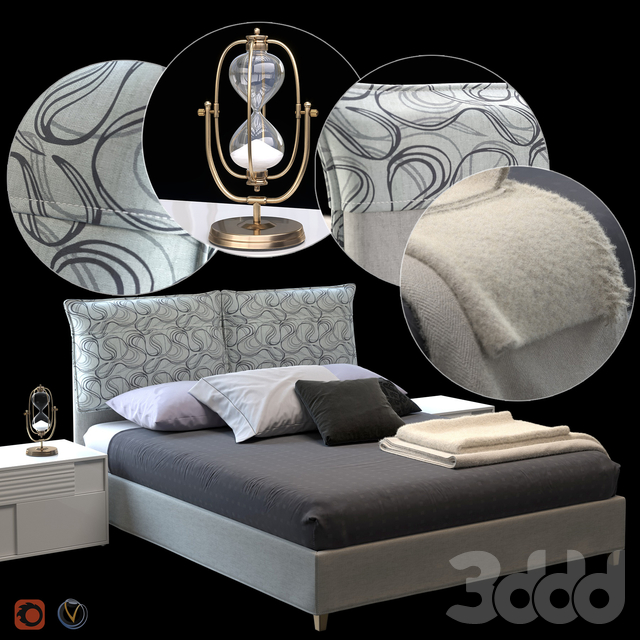 ELEGANCE Bed by Greco Strom