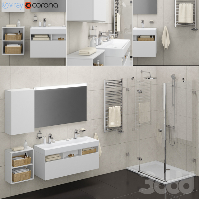 Набор для ванной комнаты set 01