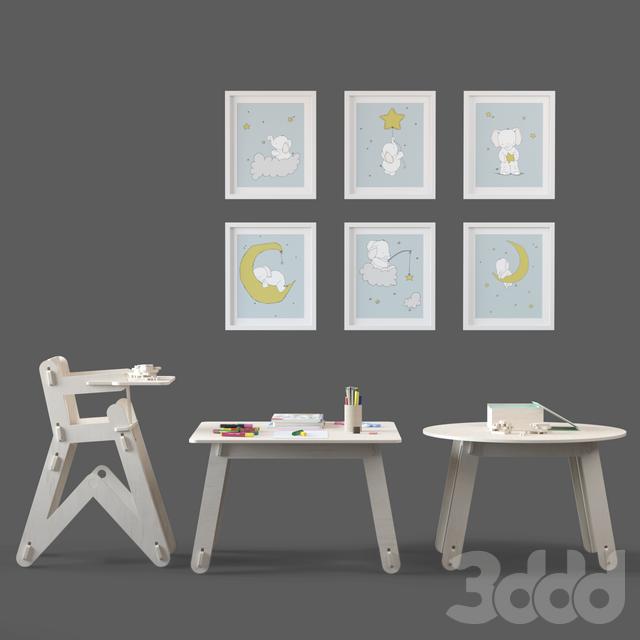 Мебель серии CLIC от Playply с наполнением. 2