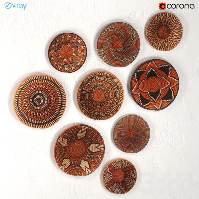 Плетёные африканские настенные корзины из Ботсваны.