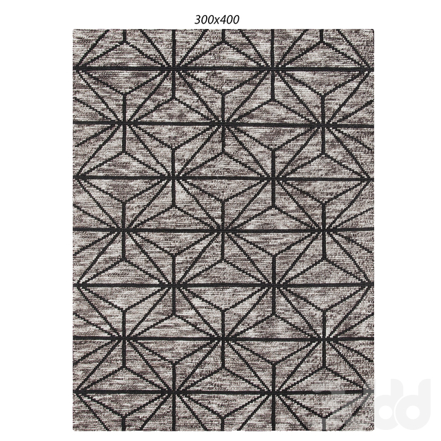 Temple and webster:Hoffman Charcoal & Grey Hand Loomed Polyester Rug