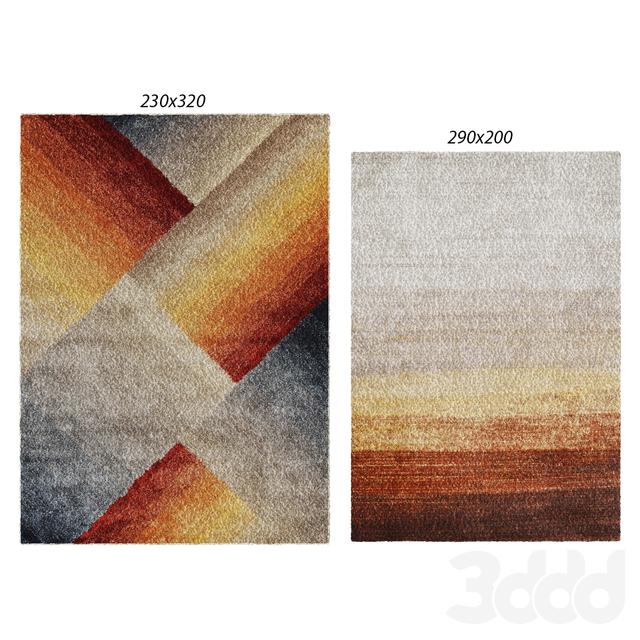 Temple and webster: Addaya Matisse Modern Rug, Lidia Rust & Grey Hand Tufted Soft Modern Rug