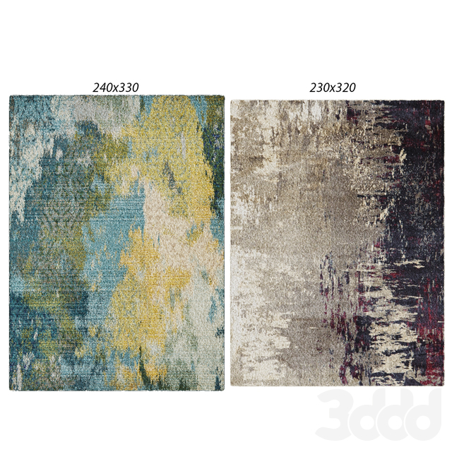 Temple and webster:Mystical Modern Rug, Tempeste Monet Abstract Rug
