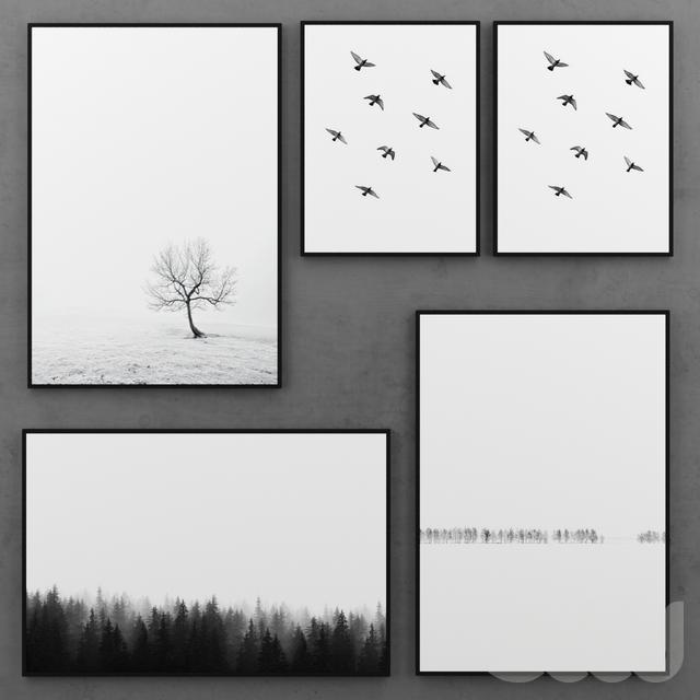 Набор черно-белых постеров | 1