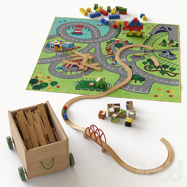Игрушки на ковре для детской