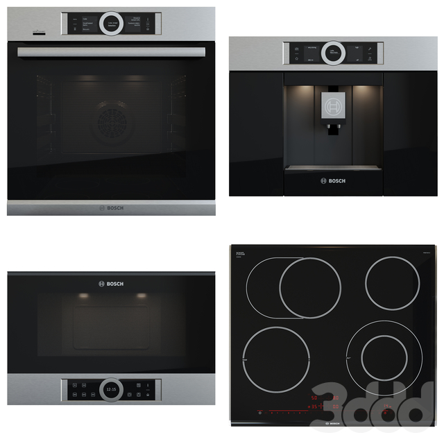 Bosch set - PKN675DK1D , CTL636ES1 , BFL634GS1 , HSG636XS6