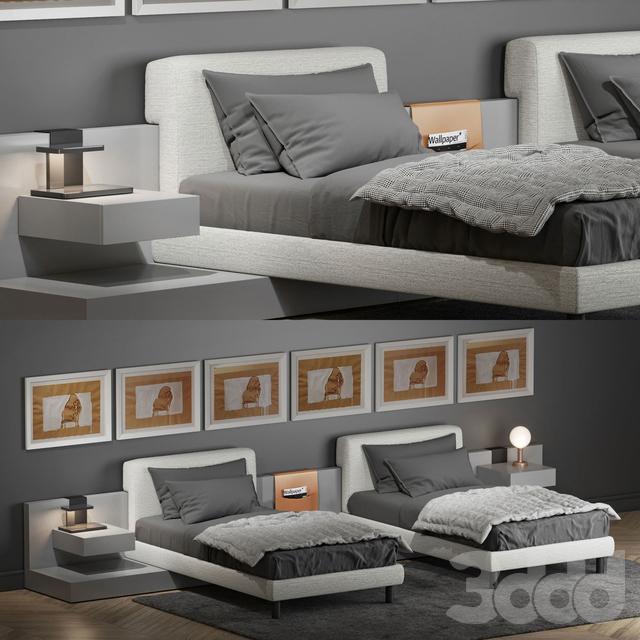 Кровать Meridiani Cliff 2