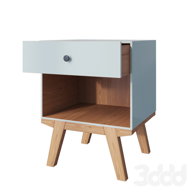 Тумба Amoroso 1 Drawer Nightstand aqua