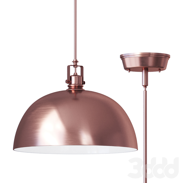 Светильник Southlake 1 Light Bowl Pendant brushed cuper