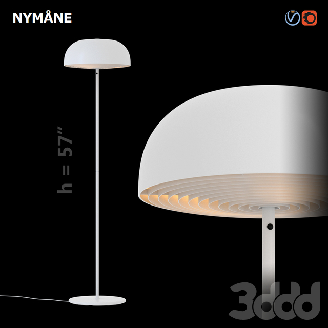 3d модели Торшеры Ikea Nymane Floor Lamp