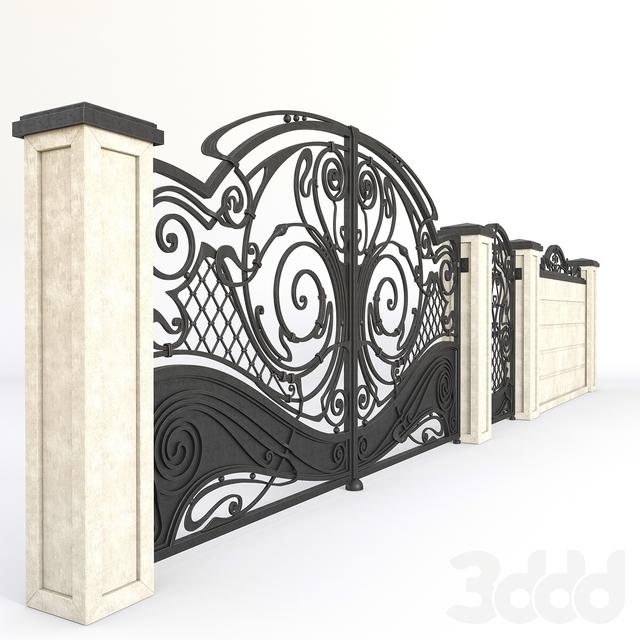 Кованые ворота 221