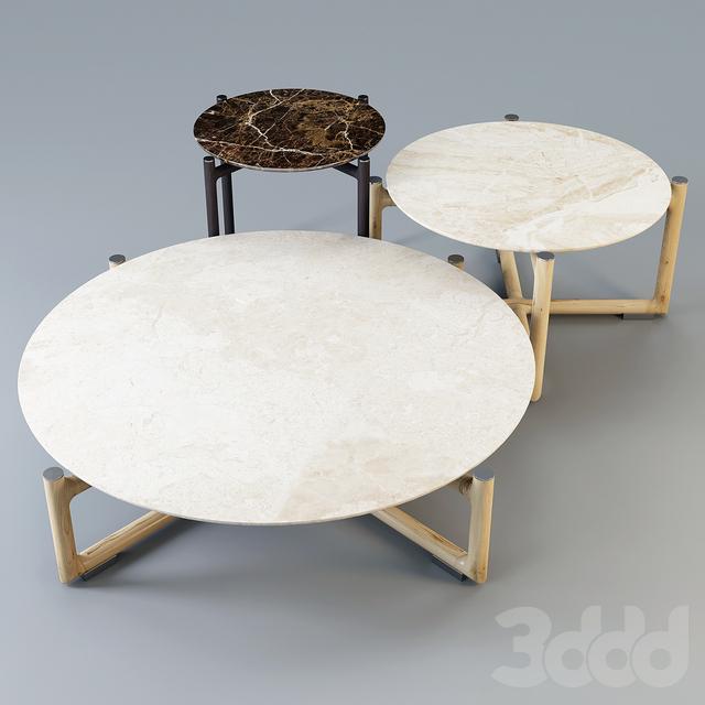 Mood by Flexform: Coffee Table - Icaro Set-01