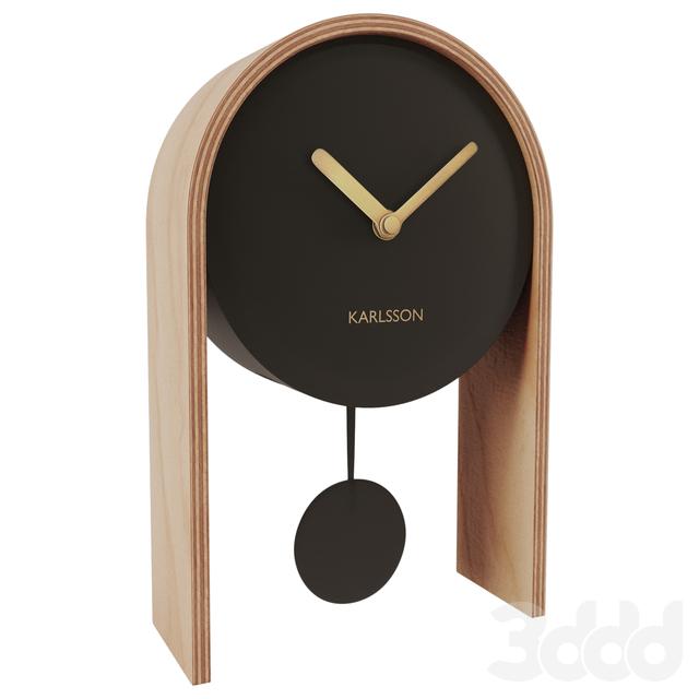 Karlsson Table Clock Smart Pendulum Black