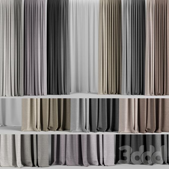 Набор штор в разных цветах + тюль.