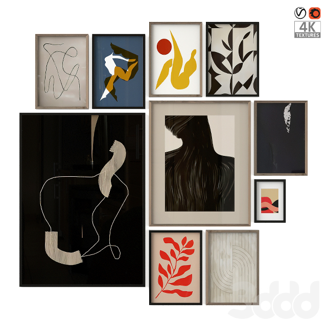 Abstract Posters Set 09