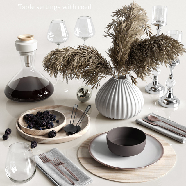 Table settings with reed