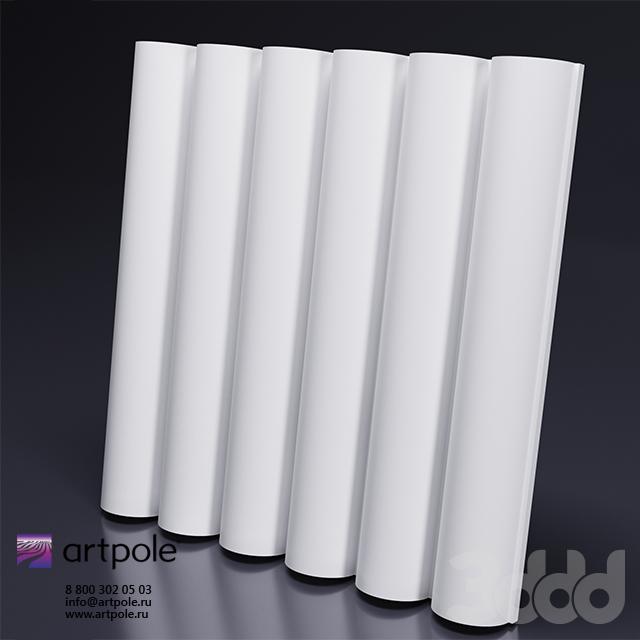 Гипсовая 3d панель TUBE от Artpole