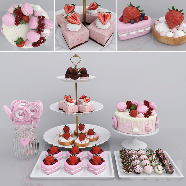 Strawberry candy bar