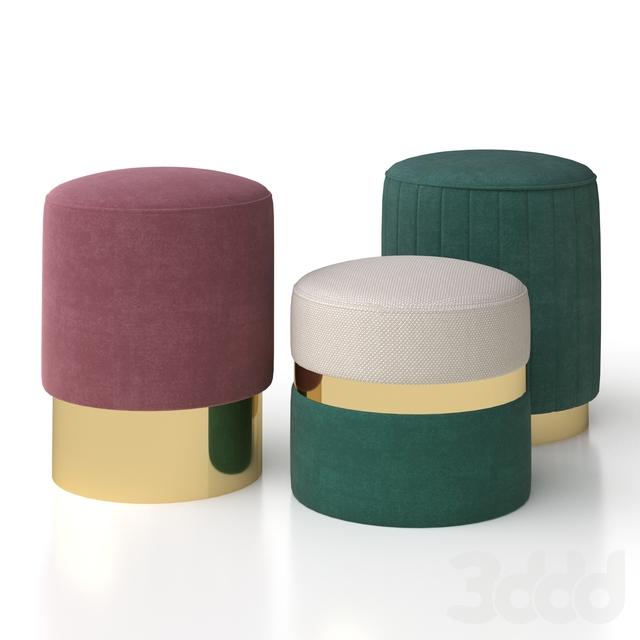 Velvet stool by Smart Living