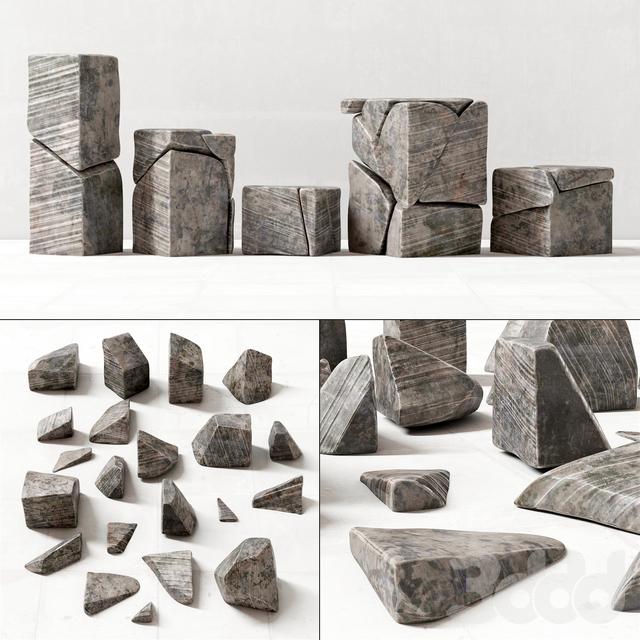Stone decor splinters / Декор из каменных осколков