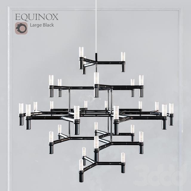 EQUINOX CHANDELIER LARGE BLACK