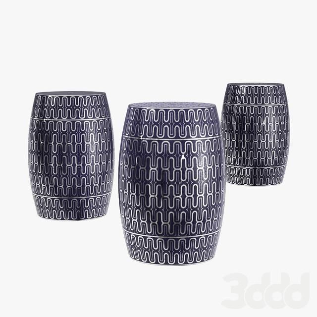 Sagebrook home ceramic garden stool