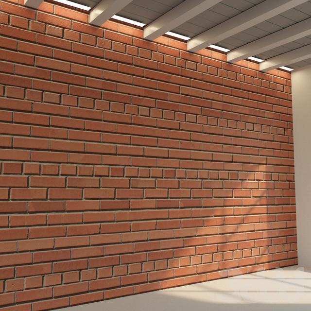 Кирпичная стена. Старый кирпич. 69