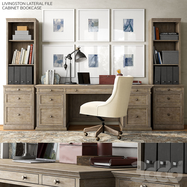 Pottery barn LIVINGSTON LATERAL FILE CABINET BOOKCASE