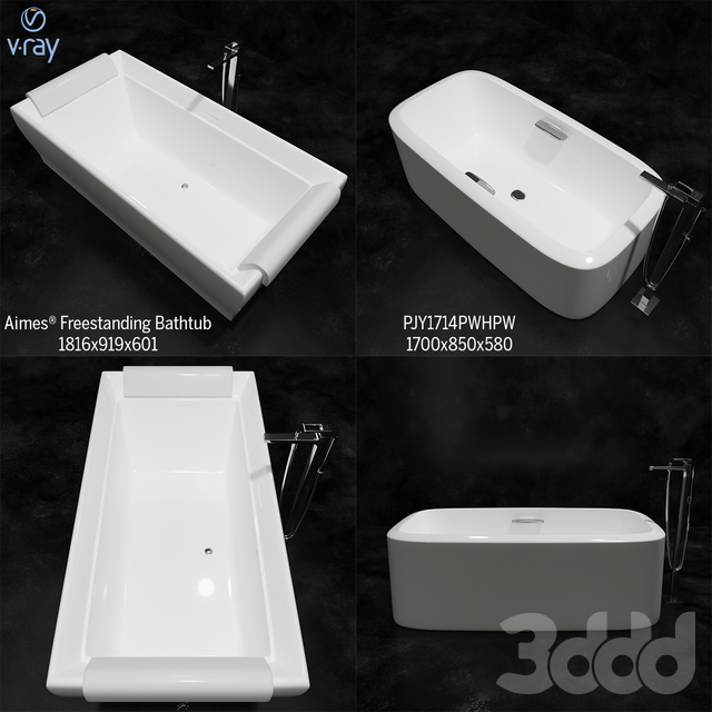 TOTO BATHUB : Aimes® Freestanding Bathtub,PJY1714PWHPW,hangrohe 74532001