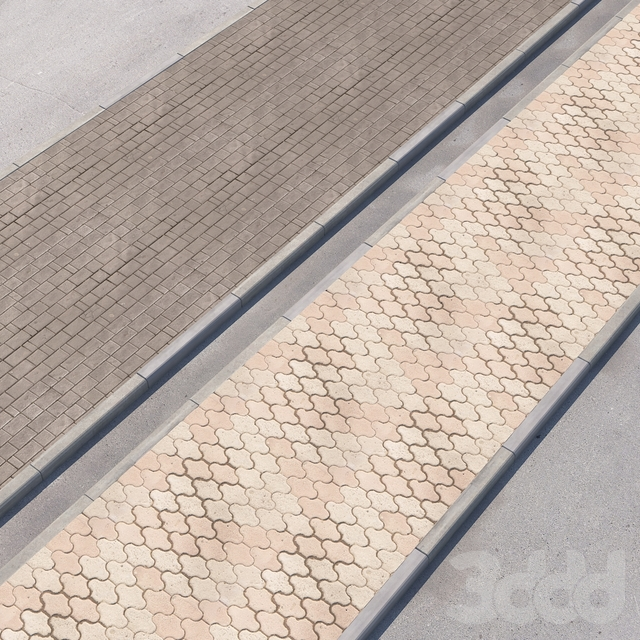 2 варианта тротуара с дорогой set_12
