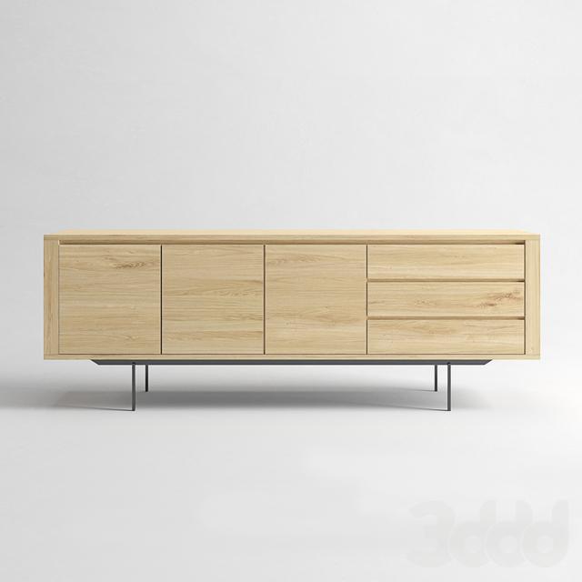 ETHNICRAFT Shadow oak sideboard 3 doors