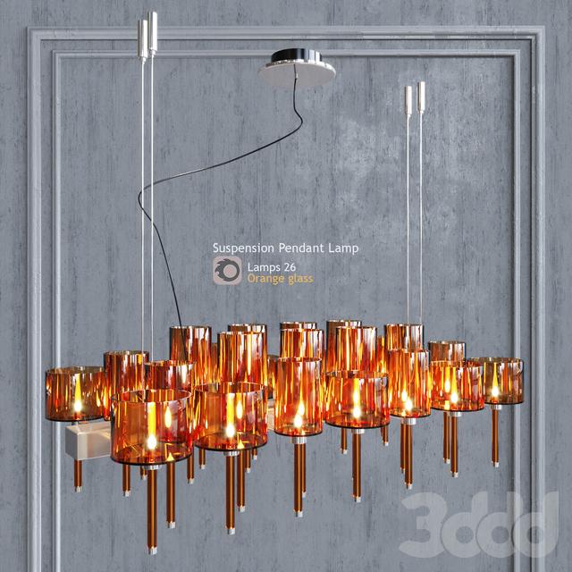 Люстра AXO Light Spillray SP lamps 26 orange glass
