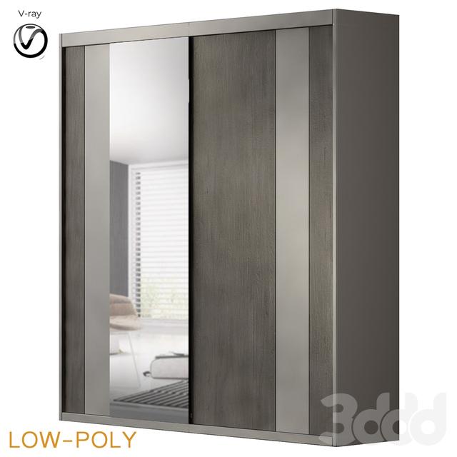 Hokku Designs Modern 2 Door Sliding Wardrobe (low poly)