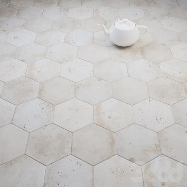 CIR Esagona White Rope (Ex Cotone) Tile Set