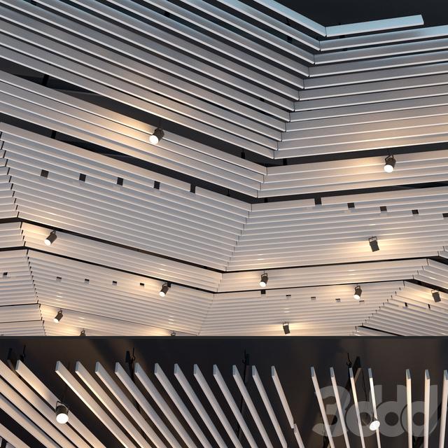 Подвесной потолок реечный. 29