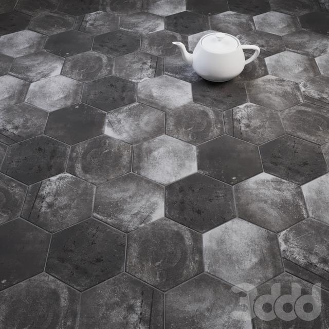 CIR Esagona Pitch Black (Ex Pece) Tile Set
