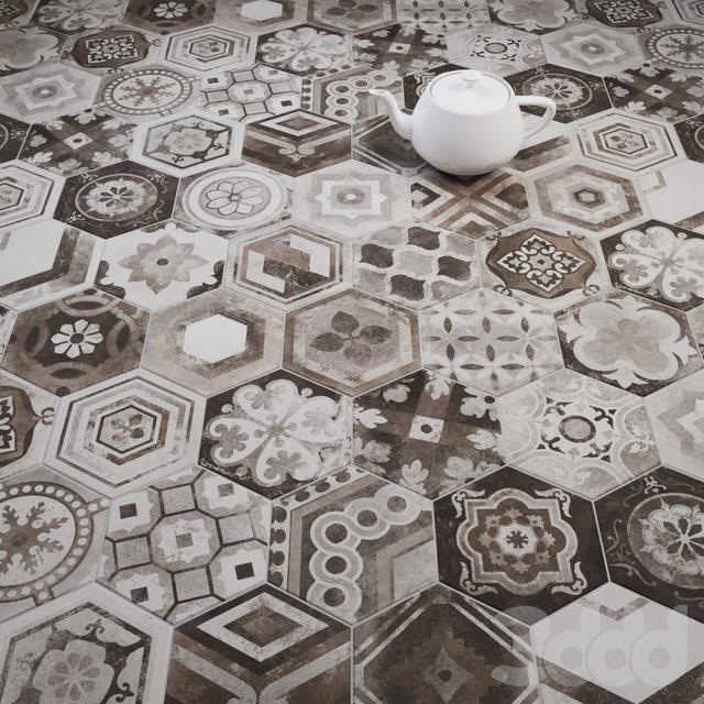 CIR Esagona Miami Mix (Dec) Tile Set