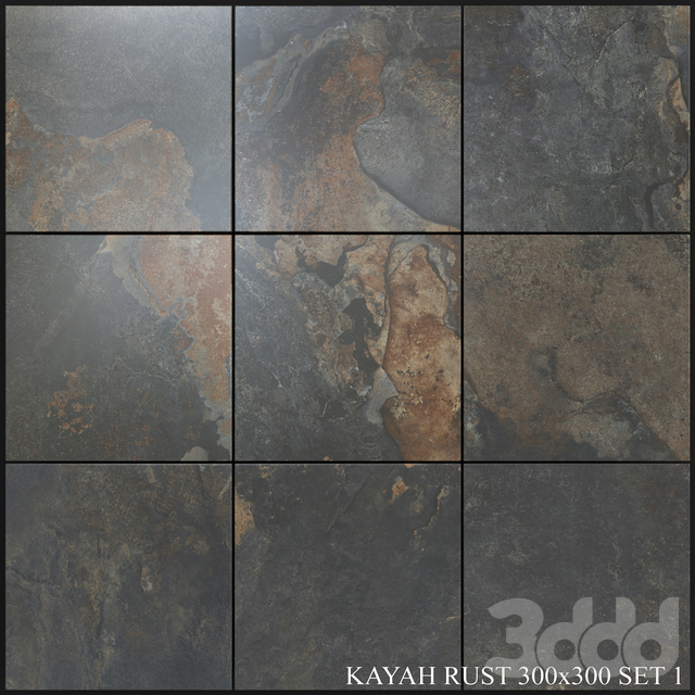 Yurtbay Seramik Kayah Rust 300x300 Set 1
