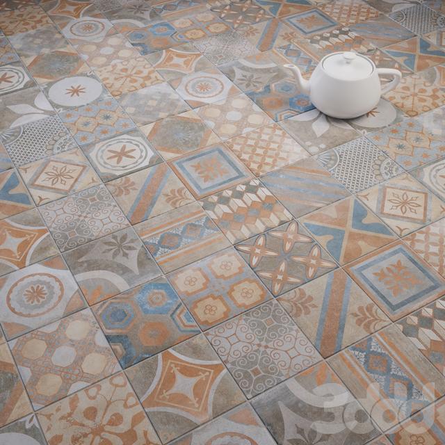 CIR New Orleans French Quarter Royal Street 20x20 Mixed Tile Set