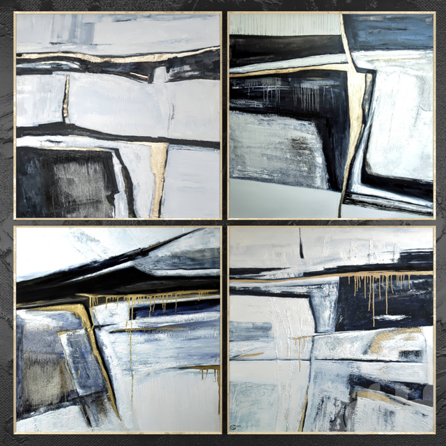 Paintings abstract   set 425