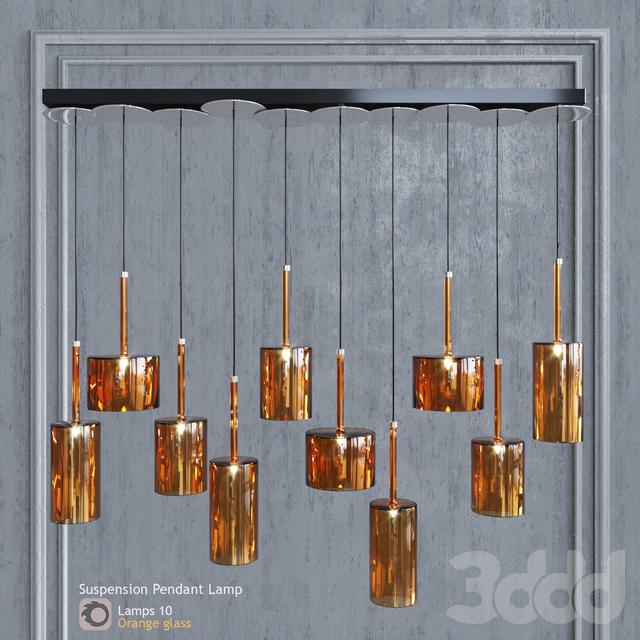 Подвесной светильник AXO Light Spillray SP lamps 10 glass orange