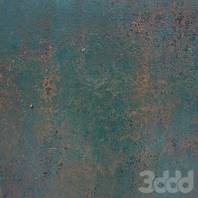 Rusty emerald metal surface