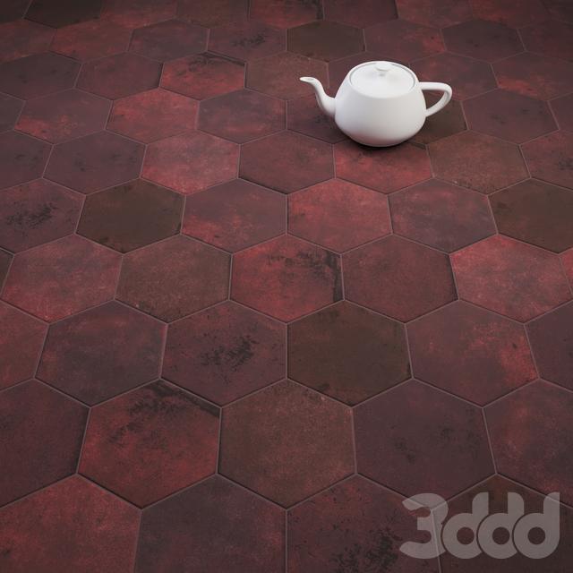 CIR Miami Esagona Red Clay (Ex Vinaccia) Tile Set