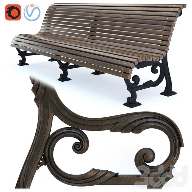 Парковая скамейка 01