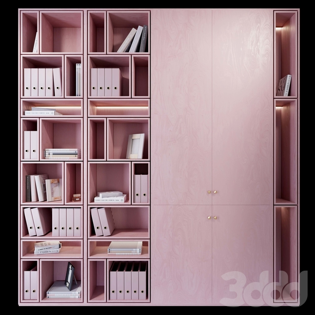 Wardrobe _ plywood pink