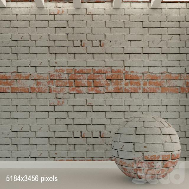 Кирпичная стена. Старый кирпич. 83