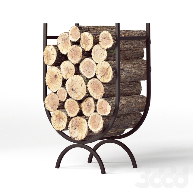 Large Iron Log Holder